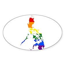 Rainbow Pride Flag Philippines Map Decal