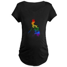 Rainbow Pride Flag Philippines Map T-Shirt