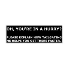 Condescending tailgatee Car Magnet 10 x 3
