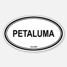 Petaluma oval Oval Decal