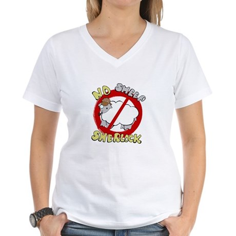 No Sheep Sherlock women's t-shirt