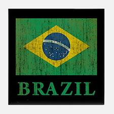 Vintage Brazil Tile Coaster