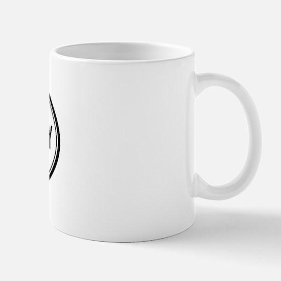 Temple City oval Mug