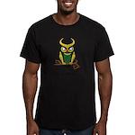 Owl of Mischief Men's Fitted T-Shirt (dark)