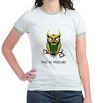 Owl of Mischief Jr. Ringer T-Shirt