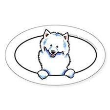 Samoyed Peeking Bumper Decal