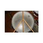 DRUM PEACE™ 35x21 Wall Decal