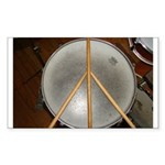 DRUM PEACE™ Sticker (Rectangle 10 pk)