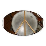 DRUM PEACE™ Sticker (Oval 10 pk)