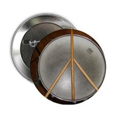 """DRUM PEACE™ 2.25"""" Button"""