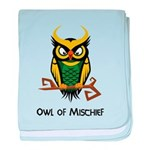 Owl of Mischief baby blanket