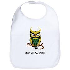 Owl of Mischief Bib