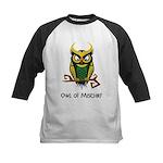 Owl of Mischief Kids Baseball Jersey