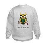 Owl of Mischief Kids Sweatshirt