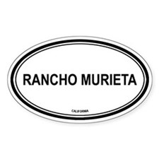 Rancho Murieta oval Oval Decal