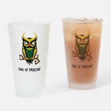 Owl of Mischief Drinking Glass