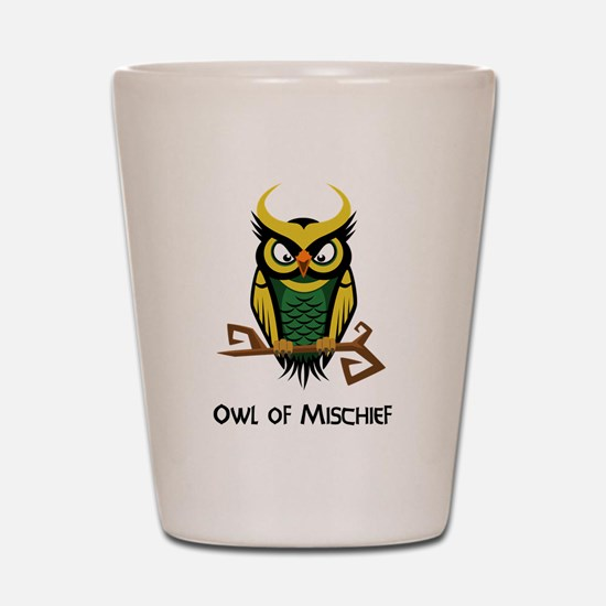 Owl of Mischief Shot Glass