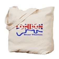 London River Thames Union Jack Flag Tote Bag