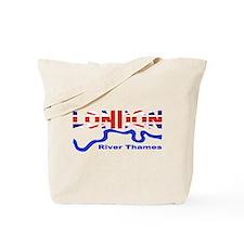 London River Thames Union Jack Flag Tote Bag