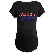 London River Thames Union Jack Flag T-Shirt