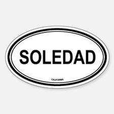 Soledad oval Oval Decal