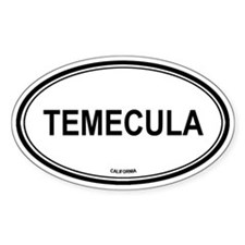 Temecula oval Oval Stickers