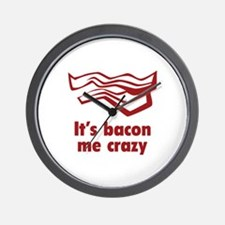It's bacon me crazy Wall Clock