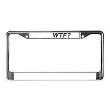 WTF? License Plate Frame