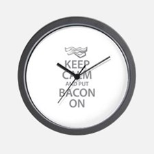 Keep Calm and put Bacon On Wall Clock