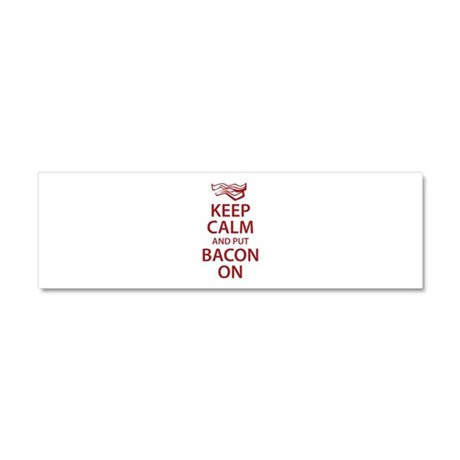 Keep Calm and put Bacon On Car Magnet 10 x 3