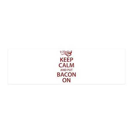 Keep Calm and put Bacon On 42x14 Wall Peel