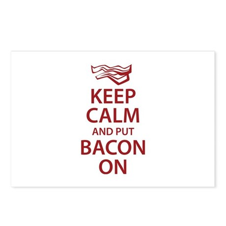 Keep Calm and put Bacon On Postcards (Package of 8