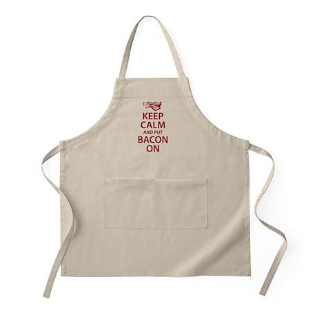 Keep Calm and put Bacon On Apron