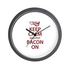 Keep Calm and put Bacon On Wall Clock