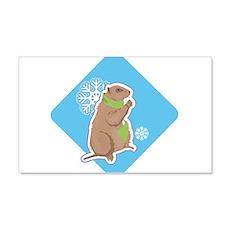 Cute Winter Groundhog Wall Decal