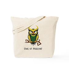 Owl of Mischief Tote Bag