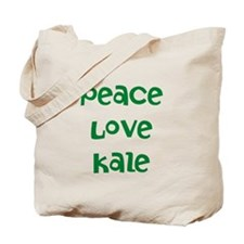 Peace Love Kale Tote Bag