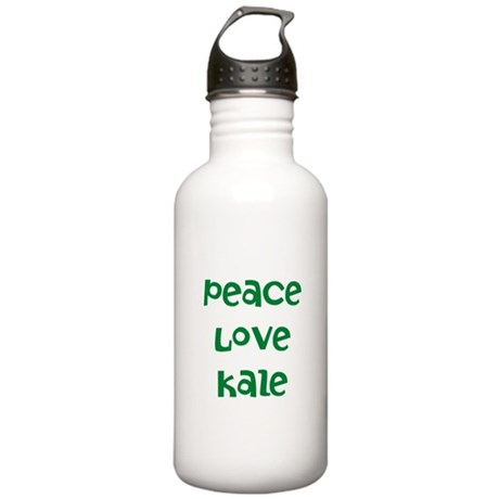 Peace Love Kale Stainless Water Bottle 1.0L