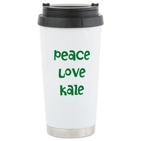 Peace Love Kale Stainless Steel Travel Mug