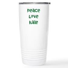 Peace Love Kale Thermos Mug