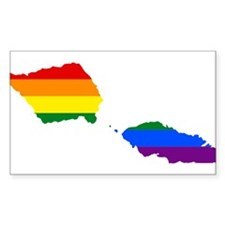 Rainbow Pride Flag Samoa Map Decal