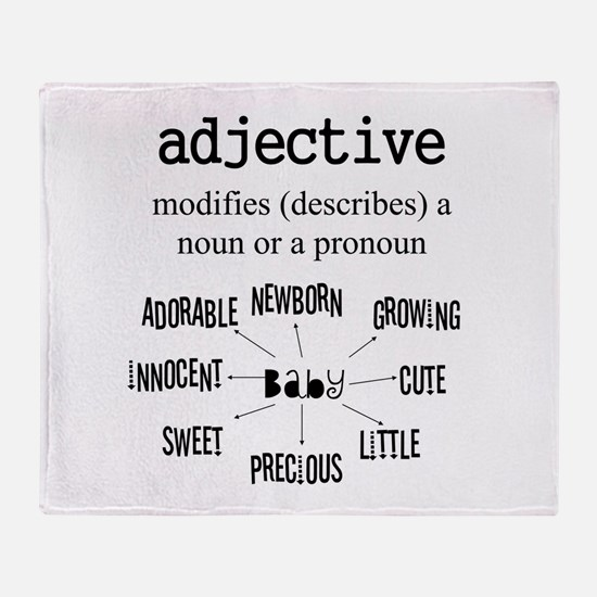 Maternity Adjective Throw Blanket