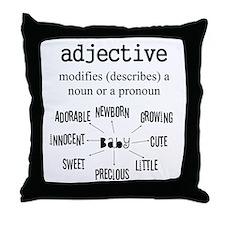 Maternity Adjective Throw Pillow