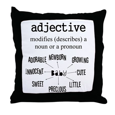 Maternity Adjective Throw Pillow