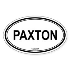Paxton oval Oval Decal