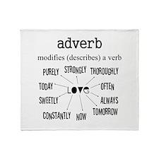 Maternity Adverb Throw Blanket