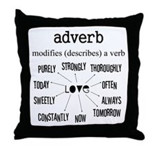 Maternity Adverb Throw Pillow