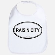 Raisin City oval Bib