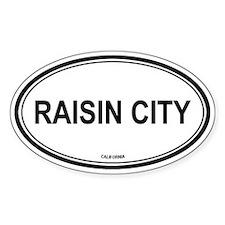 Raisin City oval Oval Decal