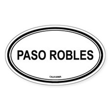 Paso Robles oval Oval Decal